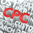 CPC. The Wordcloud Concept. — Stock Photo