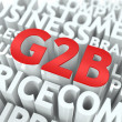 G2B. The Wordcloud Concept. — Stock Photo