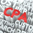 CPA. The Wordcloud Concept. — Lizenzfreies Foto