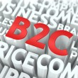 B2C. The Wordcloud Concept. — Stock Photo