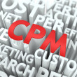 CPM. The Wordcloud Concept. — Stock Photo