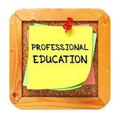 教育のプロフェッショナル。セキュリティ上のステッカー. — ストック写真