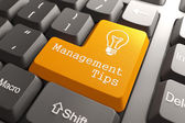 Keyboard with Management Tips Button. — Stock Photo