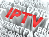 IPTV. The Wordcloud Concept. — Stock Photo
