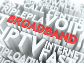 Broadband. The Wordcloud Concept. — Stock Photo