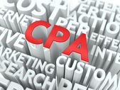 CPA. The Wordcloud Concept. — Stock Photo