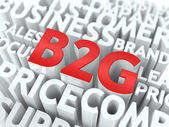 B2G. The Wordcloud Concept. — Stockfoto