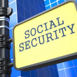 Business Concept. Social Security Roadsign. — Stock Photo