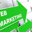 Web Marketing. Internet Concept. — Stock Photo
