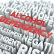 Stock Photo: Alcohol Dependency. Wordcloud Concept.