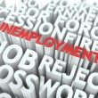 Unemployment. The Wordcloud Concept. — Stockfoto