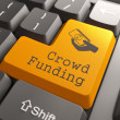 Keyboard with Crowd Funding Button. — Stock Photo #29644465