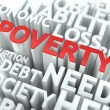Poverty. The Wordcloud Concept. — Stock Photo