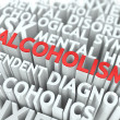 Alcoholism. The Wordcloud Concept. — Stok fotoğraf