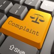 Keyboard with Complaint Button. — Stock Photo
