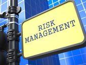 Iş kavramı. risk yönetim mesaj. — Stok fotoğraf