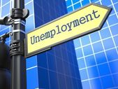 Unemployment Roadsign. Business Concept. — Stock Photo