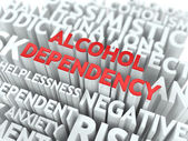 Alcohol Dependency. The Wordcloud Concept. — Stock Photo