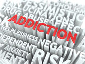 Addiction. The Wordcloud Concept. — Stock Photo