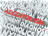 Alcoholism. The Wordcloud Concept. — Stock Photo