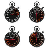 Stopwatch - Red Timers. Set on White. — Stock Photo