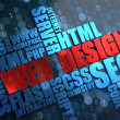 Web Design. Wordcloud Concept. — Lizenzfreies Foto
