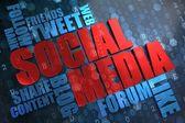 Social Media. Wordcloud Concept. — Stock Photo