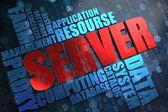 Server. Wordcloud Concept. — Stock Photo