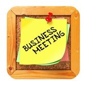 Business Meeting. Yellow Sticker on Bulletin. — Stock Photo