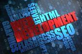 Web Development. Wordcloud Concept. — Stock Photo