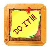 Do It. Yellow Sticker on Bulletin. — Stock Photo