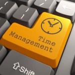 klawiatura z czasu zarządzania przycisk — Zdjęcie stockowe