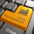 Keyboard with Risk Management Button. — Stock Photo
