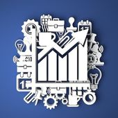 Infographic The Growth. Business Concept. — Stock Photo