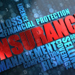 Insurance. Wordcloud Concept. — Stock Photo