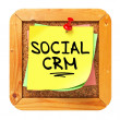 Social CRM. Yellow Sticker on Bulletin. — Stock Photo