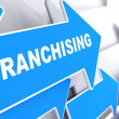 Franchising. Business Background. — Stock Photo