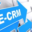 E-CRM. Information Technology Concept. — Stock Photo