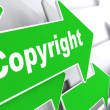 Copyright. Business Background. — Stock Photo