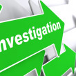 Stock Photo: Investigation. Information Background.