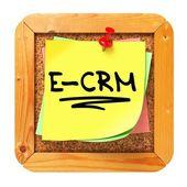E-crm. sarı etikette bülteni. — Stok fotoğraf