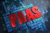 PAAS. Wordcloud Concept. — Stock Photo
