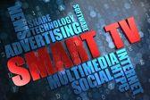 Smart TV. Wordcloud Concept. — Stock Photo
