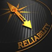 Reliability. Business Background. — 图库照片