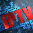 IPTV. Wordcloud Concept. — Stock Photo