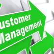 Customer Management. Business Concept. — Stock Photo