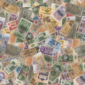 Seamless Texture of Old Banknotes. — Stock Photo