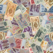Seamless Texture of Old USSR Banknotes. — Stock Photo