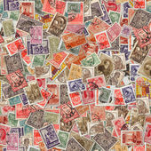 Seamless Texture of Postage Stamps. — Stock Photo