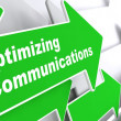 Optimizing Communications. Business Concept. — Stock Photo